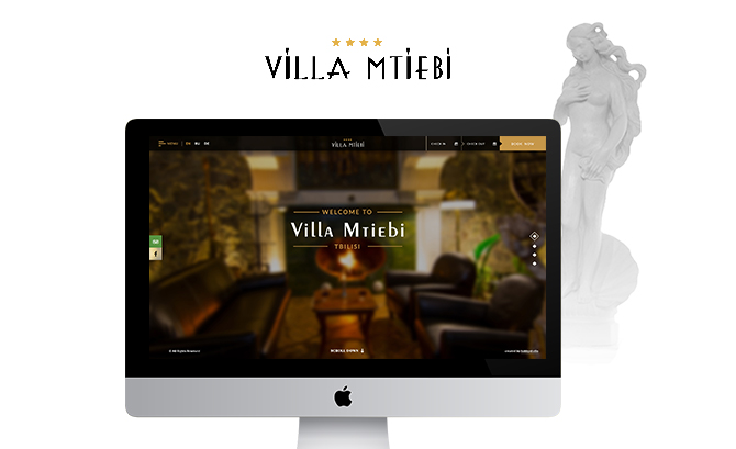 Website For Hotel Mtiebi