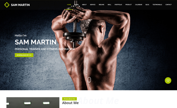 Sam Martin WordPress Theme