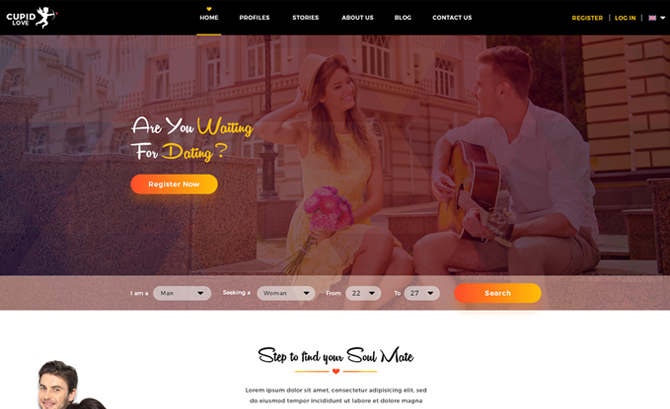 CUPID LOVE PSD Template