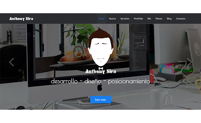 Anthony Sira | Diseño Web | Di