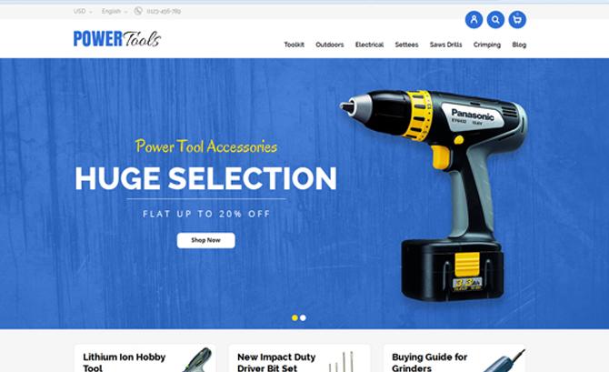 Power Tools Store Prestashop