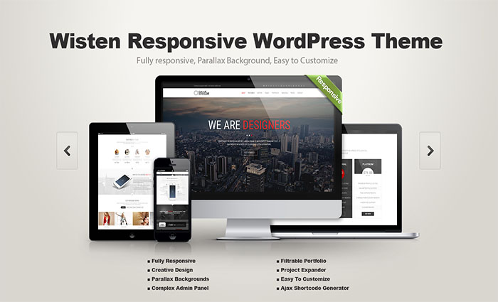 Wisten - WP One Page Parallax