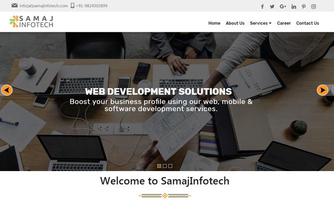 Web Design - Samaj Infotech