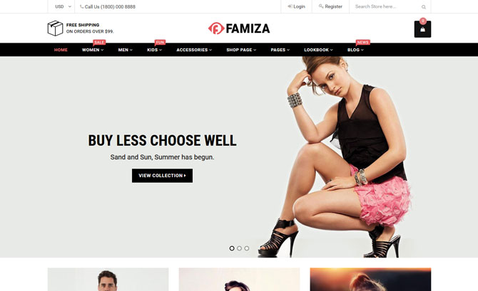 Famiza shopify theme
